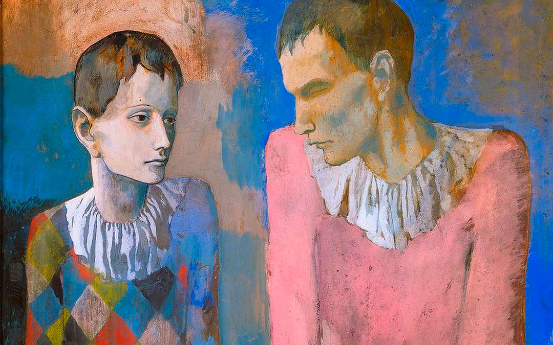 The young Picasso Blue and pink period Exhibit in Basel